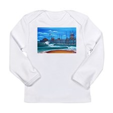 Huntington Beach Pier CIrca 1983 Long Sleeve Infan