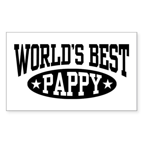 World's Best Pappy Sticker (Rectangle)