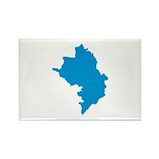 Azerbaijan map Rectangle Magnet (10 pack)