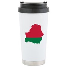 Belarus map flag Ceramic Travel Mug