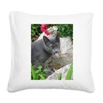 .sarcasti-cat. Square Canvas Pillow