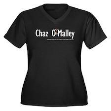 Chazs 1st Shirt Women's Plus Size V-Neck Dark T-Sh
