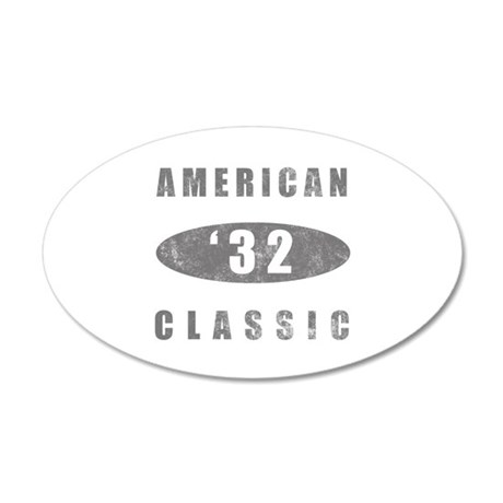 1932 Birthday Classic 35x21 Oval Wall Decal