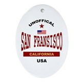 San Fransisco Oval Ornament