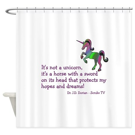 Scrubs Unicorn Quotes Shower Curtain By Kinnikinnick