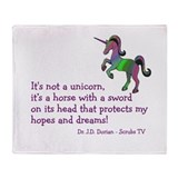 Scrubs Unicorn Quotes Throw Blanket