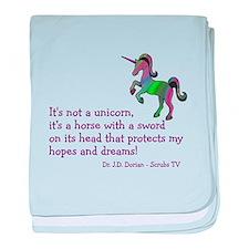 Scrubs Unicorn Quotes baby blanket