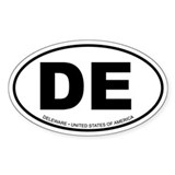 Deleware Oval Decal
