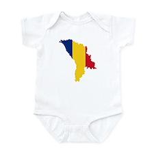 Moldova map flag Infant Bodysuit