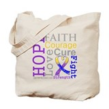Bladder Cancer Hope Courage Tote Bag