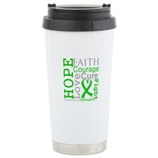 Bile Duct Cancer Hope Courage Ceramic Travel Mug