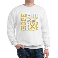 Appendix Cancer Hope Courage Sweatshirt