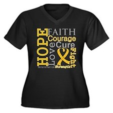 Appendix Cancer Hope Courage Women's Plus Size V-N