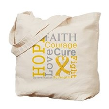 Appendix Cancer Hope Courage Tote Bag