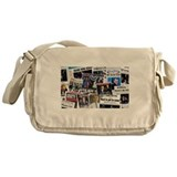 Obama Wins 2012 Newspaper Messenger Bag