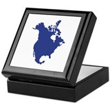 North America map Keepsake Box