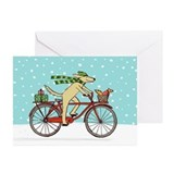 Christmas bicycle Greeting Cards (20 Pack)