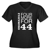 Obama 2012 Four More Women's Plus Size V-Neck Dark