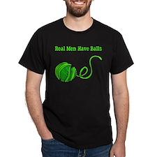 Real Men Have Balls Bark T-Shirt