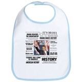 Obama Headline Collage Square Bib