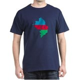 Azerbaijan map flag T-Shirt