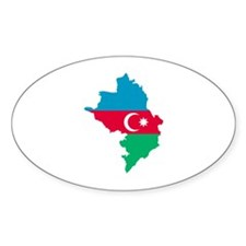 Azerbaijan map flag Decal