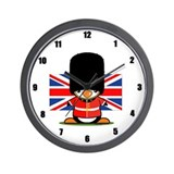 British Soldier Wall Clock