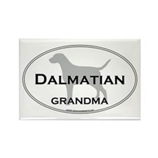 Dalmatian GRANDMA Rectangle Magnet
