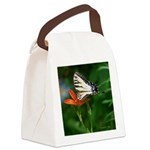 .swallowtail on candy lily. Canvas Lunch Bag