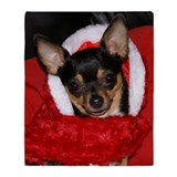 Chihuahua Holiday Throw Blanket