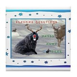 Rudolph Newfy and Wildlife Friends Tile Coaster