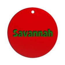 Savannah Red and Green Ornament (Round)