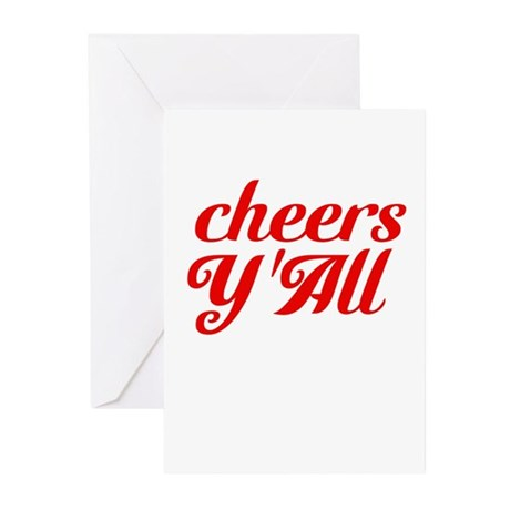 Cheers YAll Greeting Cards (Pk of 10)