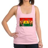 Bolivian Soccer Flag Racerback Tank Top
