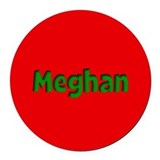 Meghan Red and Green Round Car Magnet