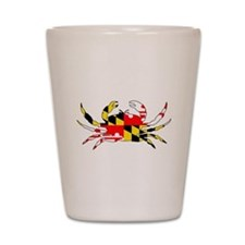 Cute Maryland crab Shot Glass
