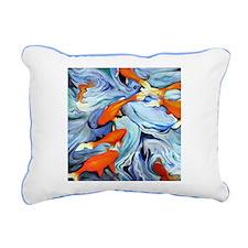 Fire Water Rectangular Canvas Pillow