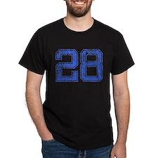 28, Blue, Vintage T-Shirt