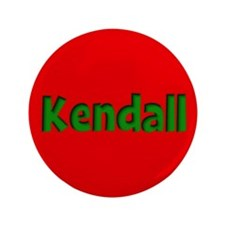 "Kendall Red and Green 3.5"" Button"