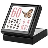 60th Birthday Butterfly Keepsake Box