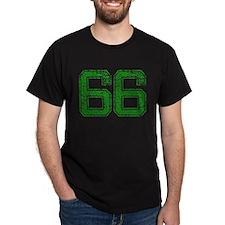 66, Green, Vintage T-Shirt