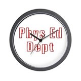 """Phys Ed Red"" Wall Clock"