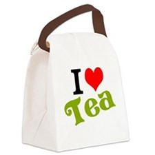 I Love Tea Canvas Lunch Bag