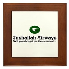 Inshallah Airways Framed Tile