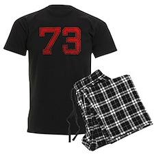 73, Red, Vintage Pajamas