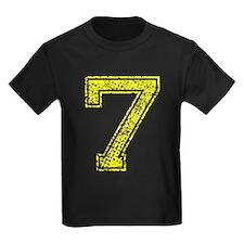 7, Yellow, Vintage T