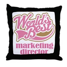 Marketing Director (Worlds Best) Throw Pillow