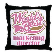 Marketing Director (Worlds Best) Throw Pillow