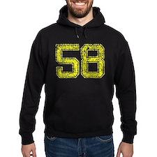 58, Yellow, Vintage Hoodie