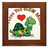 I Love You Slow Much Turtle Framed Tile